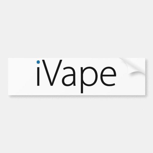 iVape Vaping Electronic Cigarette Fan Bumper Stickers