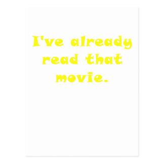 Ive Already Read that Movie Post Cards