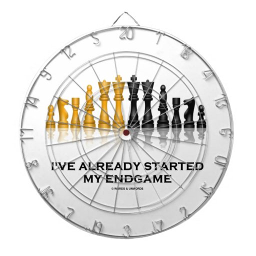 I've Already Started My Endgame (Chess Attitude) Dartboard With Darts