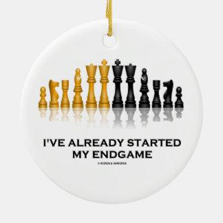 I've Already Started My Endgame (Chess Attitude) Christmas Tree Ornaments