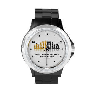 I've Already Started My Endgame (Chess Attitude) Wristwatch