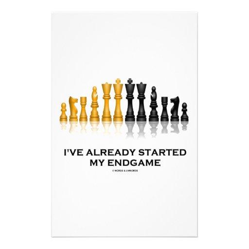I've Already Started My Endgame (Chess Attitude) Customized Stationery