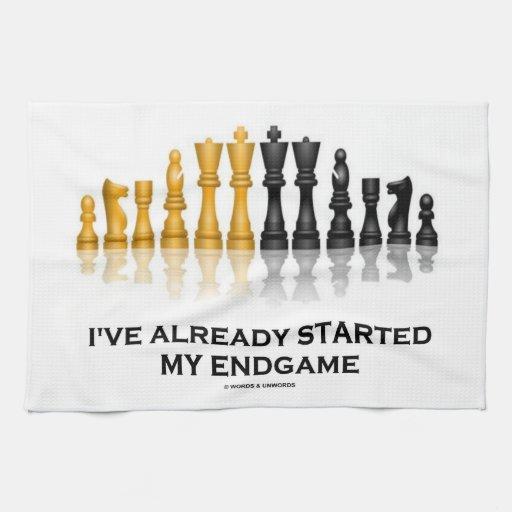 I've Already Started My Endgame (Chess Attitude) Towel