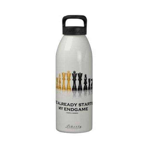 I've Already Started My Endgame (Chess Attitude) Drinking Bottle