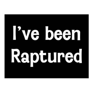 I've Been Raptured Postcard