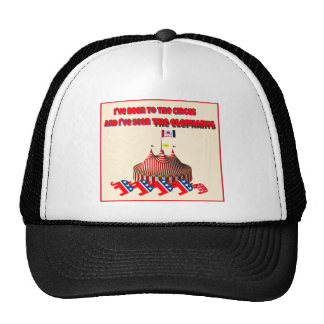 I've been to the circus and I've seen the elephant Hats