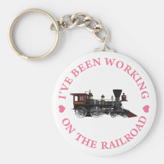 I've Been Working On The Railroad Basic Round Button Key Ring