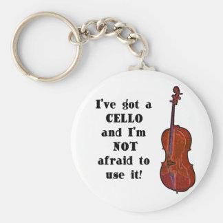 I've Got a Cello Basic Round Button Key Ring