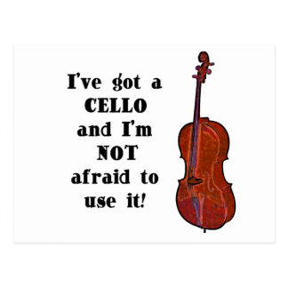 I've Got a Cello Postcard