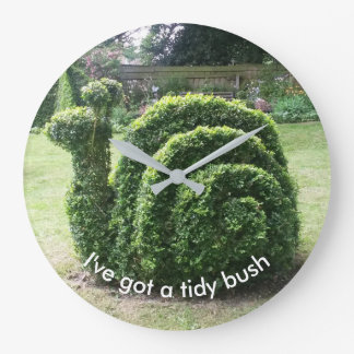 I've got a tidy bush. Topiary snail unique design Wallclock