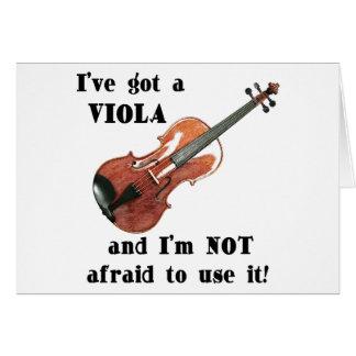 I've Got a Viola Greeting Card