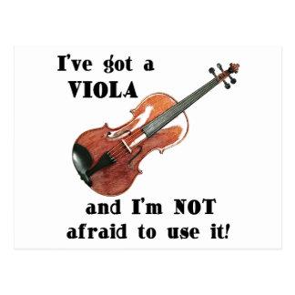 I've Got a Viola Postcard
