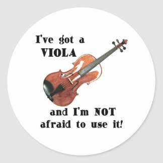 I've Got a Viola Round Sticker