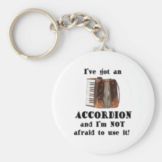 I've Got an Accordion Basic Round Button Key Ring