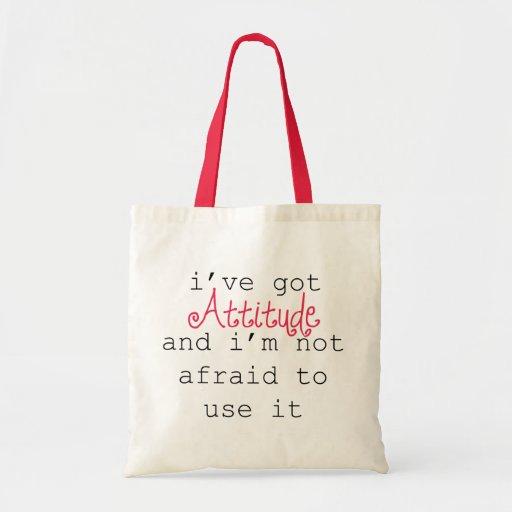 I've Got Attitude Tote Canvas Bags