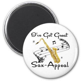 I've Got Great Sax-Appeal 6 Cm Round Magnet