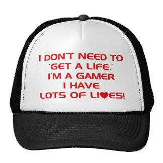 I've Got Lots Of Lives - Gamer Gaming Video Games Cap