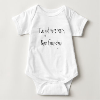 I've got more teeth than Grandpa! Funny Baby Baby Bodysuit