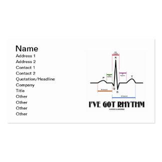 I've Got Rhythm (ECG / EKG Electrocardiogram) Business Card Template