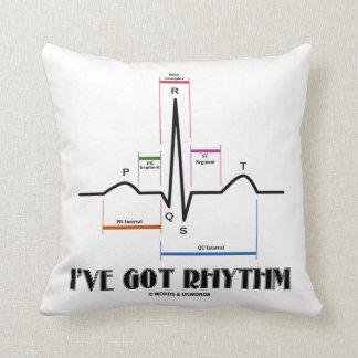 I've Got Rhythm (ECG / EKG Electrocardiogram) Throw Pillow