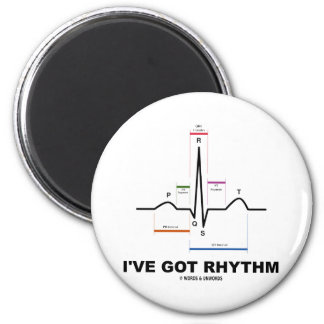 I've Got Rhythm (ECG - EKG Heart Beat) 6 Cm Round Magnet