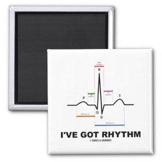 I've Got Rhythm (ECG - EKG Heart Beat) Square Magnet