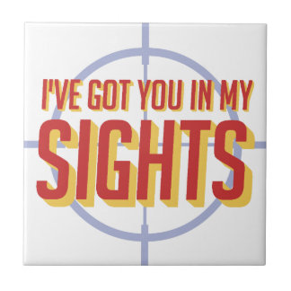 I've got you in my sights - Soldier 76 Small Square Tile