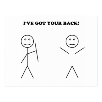 I've got your back postcard