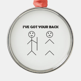 I've got your back-stick men christmas ornament