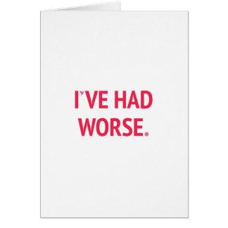 I've Had Worse Funny Valentine Card