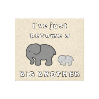 I've just become a BIG BROTHER canvas print