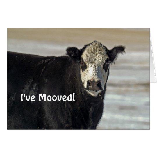 I've Mooved! Greeting Card