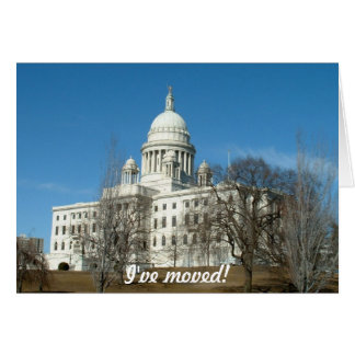 I've moved - to Providence Greeting Card