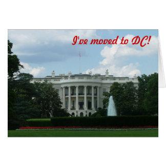 I've moved to Washington DC Card