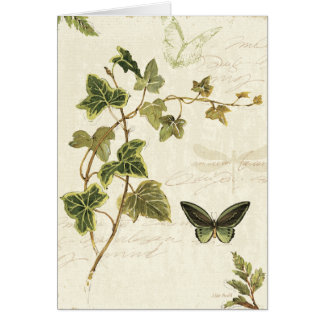 Ivies and Butterflies Card