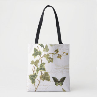 Ivies and Butterflies Tote Bag