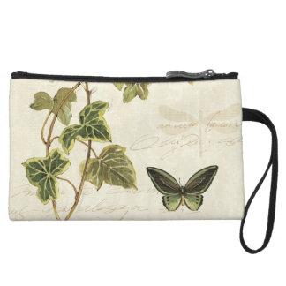 Ivies and Butterflies Wristlet Clutch
