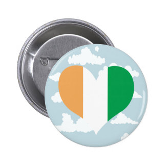 Ivorian Flag on a cloudy background 2 Inch Round Button