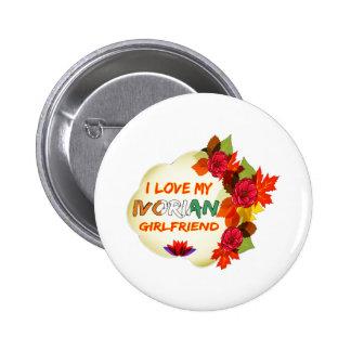 Ivorian Girlfriend designs 6 Cm Round Badge