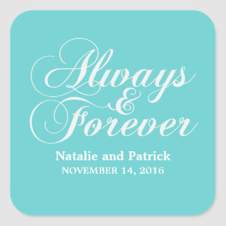 Ivory Always & Forever Wedding Stickers