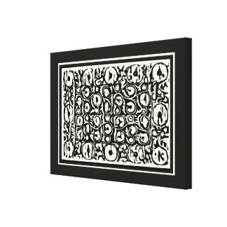 Ivory and Ebony Exotic Safari Geometric Gallery Wrap Canvas