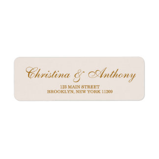 Ivory and Gold Monogram Return Address Labels