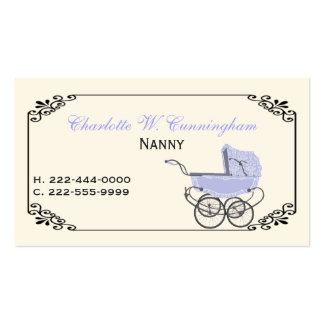 Ivory and Lavender Nanny Custom Business Card