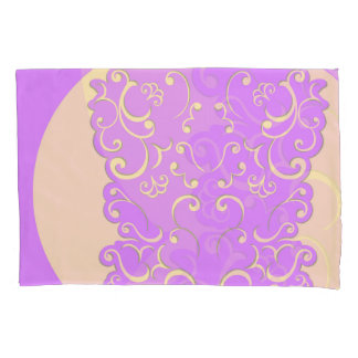 Ivory and Lilac Reversible Pillowcase