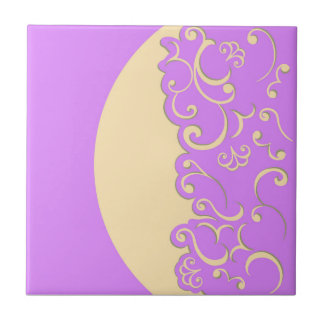 Ivory and Lilac Tile