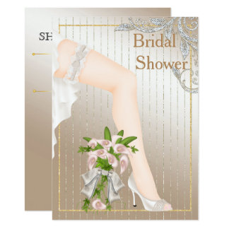 Ivory and Satin African American Bridal Shower 11 Cm X 16 Cm Invitation Card
