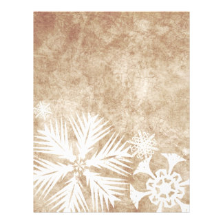 Ivory and White Christmas Snowflakes Flyers