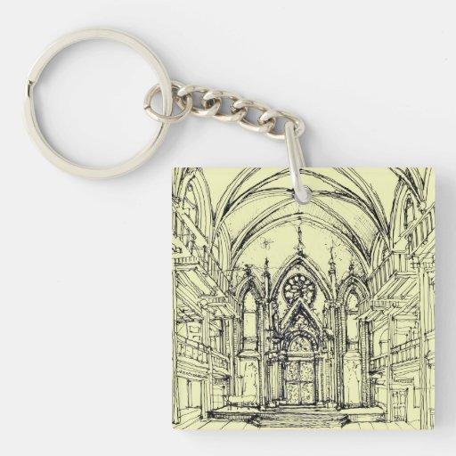 Ivory Angel synagogue Acrylic Key Chains