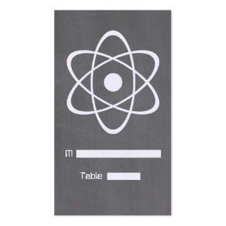 Ivory Atomic Chalkboard Place Card Business Cards