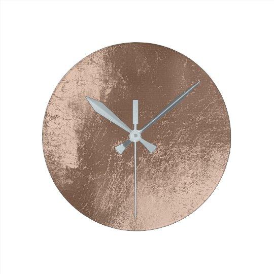 Ivory Beige Leather Metal Glass Gray Minimal Round